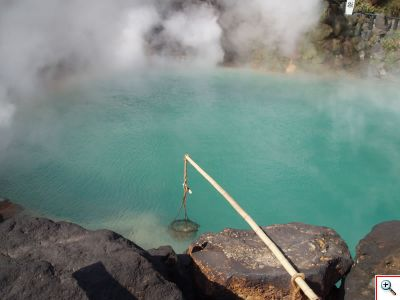 boiling eggs in onsen